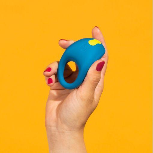 Romp by Womanizer Juke wibrujący pierścień dla par niebiesko-żółty