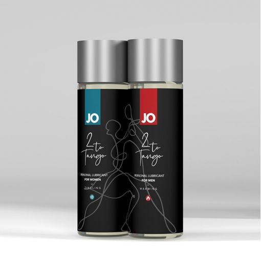 System JO 2 To Tango prezentowy zestaw lubrykantów stymulujących dla Niej i dla Niego 2 x 60 ml