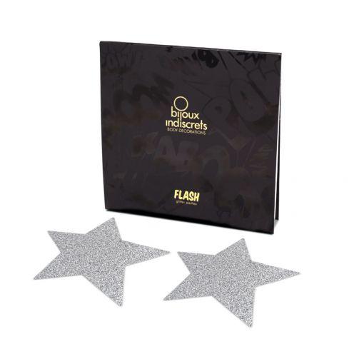 Bijoux Indiscrets Flash nasutniki gwiazdki srebrne