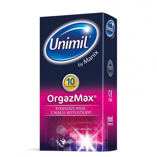 Unimil Orgazmax prezerwatywy ze stymulującymi wypustkami 10 szt.