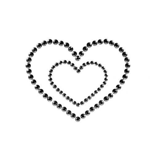 Bijoux Indiscrets Mimi nasutniki serduszka czarne