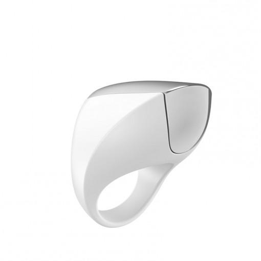 OVO A1 wibrujący pierścień dla par biały