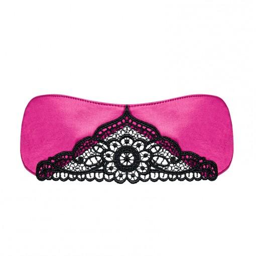 Obsessive Satinia maska na oczy różowa