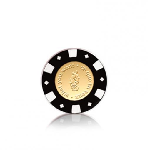 YESforLOV Moneta do podniecających gier we dwoje czarno-złota