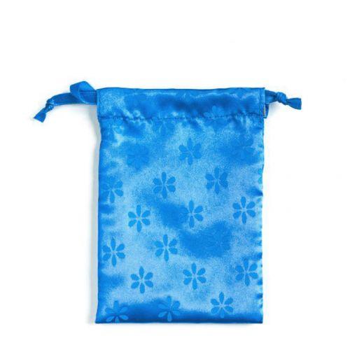 Lunette satynowy woreczek niebieski
