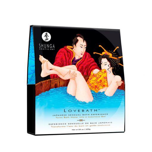 Shunga Lovebath zestaw do żelowej kąpieli niebieski bryza oceanu 650 g
