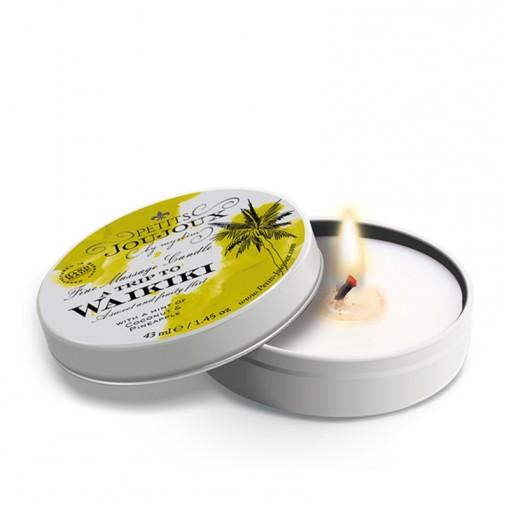Petits Joujoux świeca do masażu Waikiki kokos i ananas 33 g
