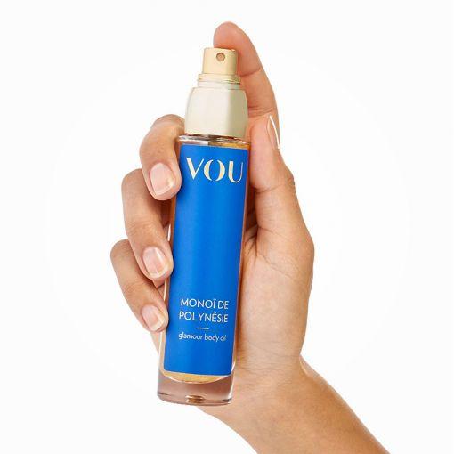 VOU Monoï de Polynésie pielęgnujący olejek do ciała wzbogacony złotymi drobinkami kwiaty monoi - 50 ml