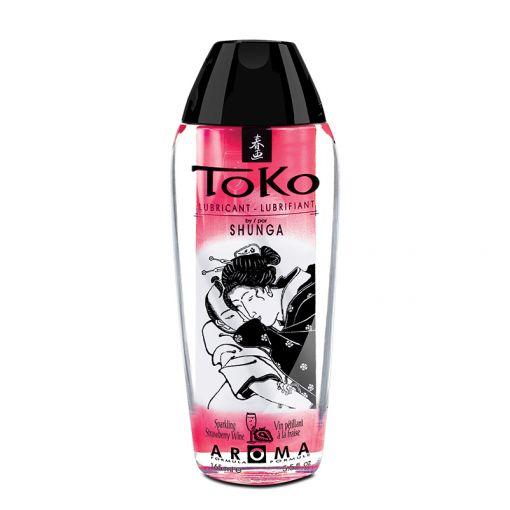 Shunga Toko Aroma lubrykant na bazie wody szampan z truskawkami 165 ml