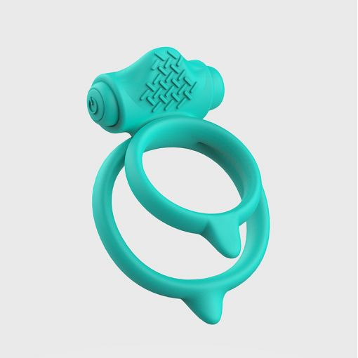 B Swish Bcharmed Basic Plus podwójny wibrujący pierścień dla par turkusowy