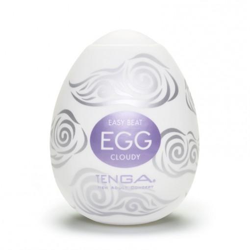 Tenga Egg Hard Boiled masturbator w kształcie jajka Cloudy