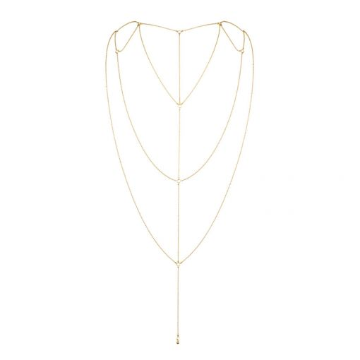 Bijoux Indiscrets Magnifique łańcuszek na plecy złoty