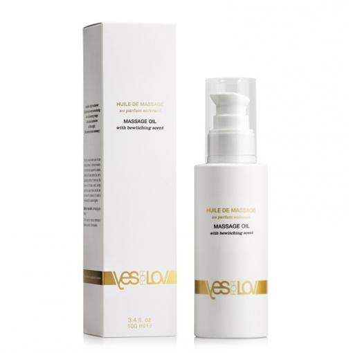 YESforLOV Massage Oil lekki olejek do masażu z afrodyzjakami o zapachu czarującym - 100 ml