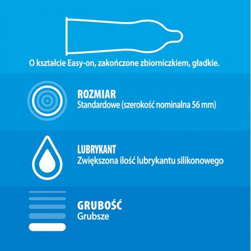 Durex Extra Safe prezerwatywy pogrubione 3 szt.