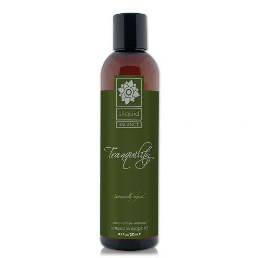 Sliquid Balance olejek do masażu Tranquility - kokos, limonka, werbena - 255 ml