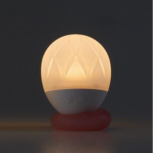Iroha Ukidama lampka do wanny i masażer kąpielowy Hana - biało-różowy