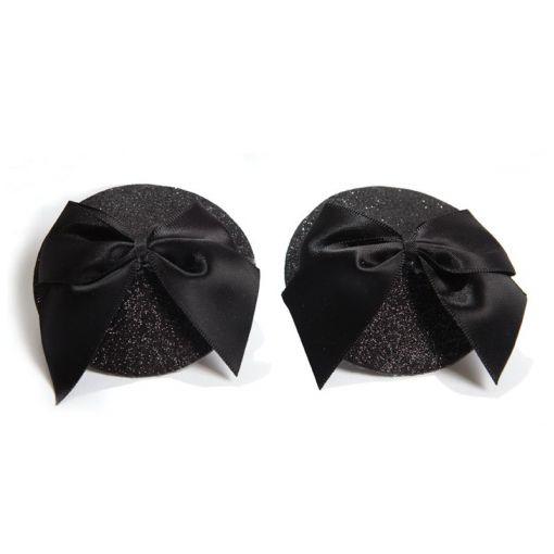 Bijoux Indiscrets Burlesque nasutniki z kokardkami czarne