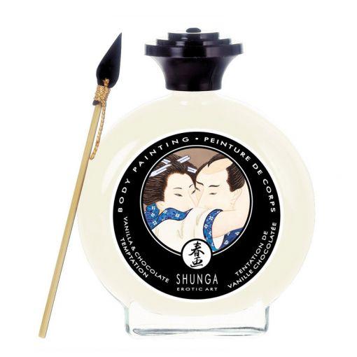 Shunga Body Painting jadalna farbka do ciała waniliowa 100 ml