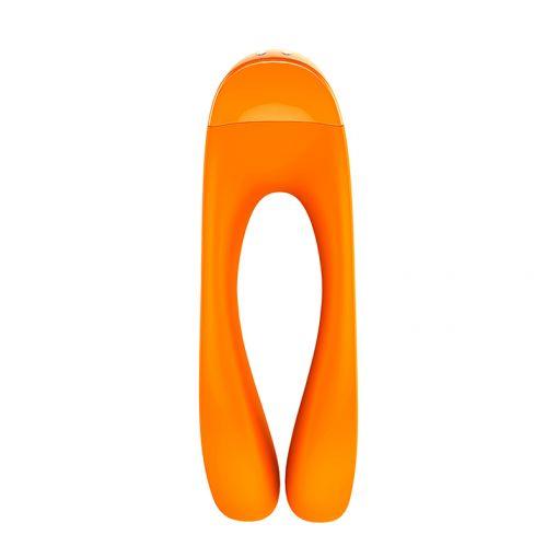 Satisfyer Candy Cane wibrator wielofunkcyjny pomarańczowy