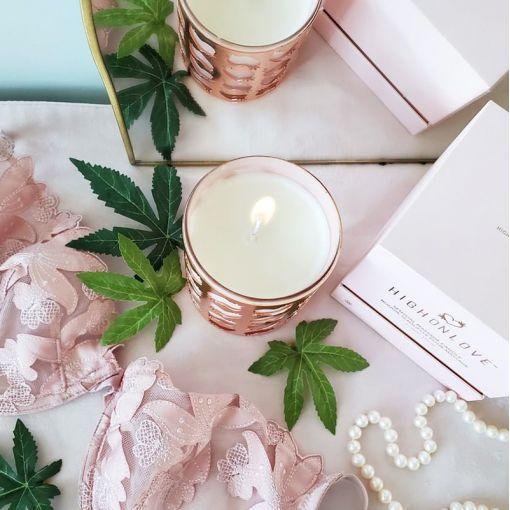 HighOnLove świeca do masażu różana 250 ml