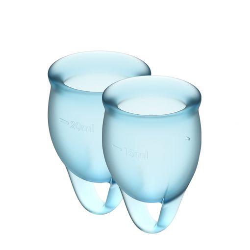 Satisfyer Feel Confident zestaw kubeczków menstruacyjnych jasnoniebieski - 15, 20 ml