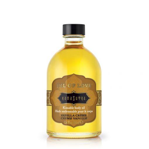 Kama Sutra Oil of Love rozgrzewający olejek do gry wstępnej waniliowy 100 ml