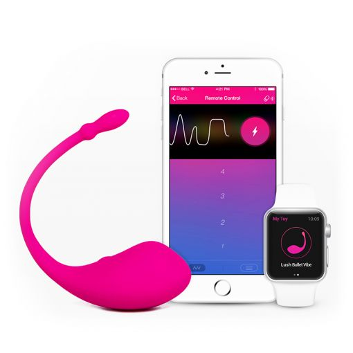 Lovense Lush wibrująca kulka sterowana telefonem różowa