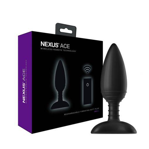 Nexus Ace wibrujący korek analny z pilotem rozmiar S czarny