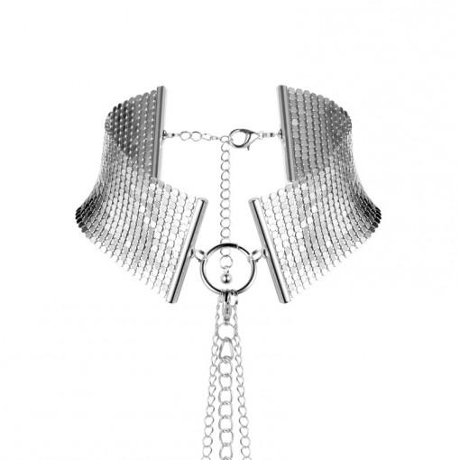 Bijoux Indiscrets Désir Métallique obroża z łańcuszków srebrna