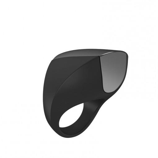 OVO A1 wibrujący pierścień dla par czarny