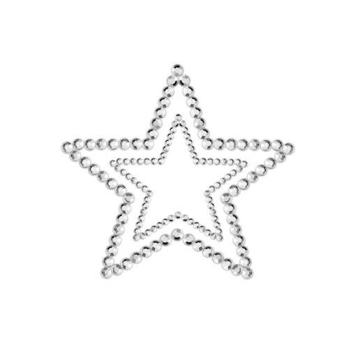 Bijoux Indiscrets Mimi nasutniki gwiazdki srebrne