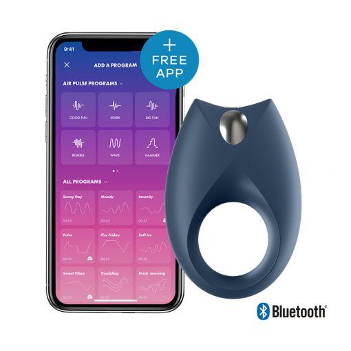 Satisfyer Royal One pierścień wibrujący dla par sterowany telefonem ciemnoniebieski