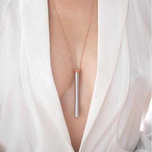 Crave Vesper miniwibrator naszyjnik różowe złoto