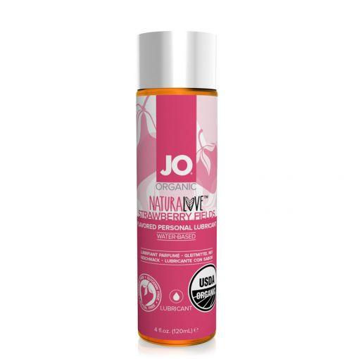 System JO Natural Love organiczny lubrykant smakowy truskawkowy 120 ml