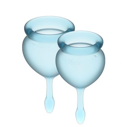 Satisfyer Feel Good zestaw kubeczków menstruacyjnych jasnoniebieski - 15, 20 ml