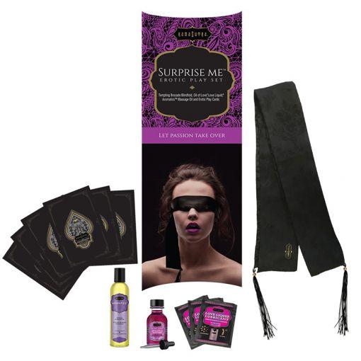 Kama Sutra Surprise Me zestaw z kosmetykami, szarfą na oczy i grą erotyczną