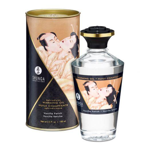 Shunga Aphrodisiac Oil rozgrzewający olejek do stref erogennych waniliowy 100 ml