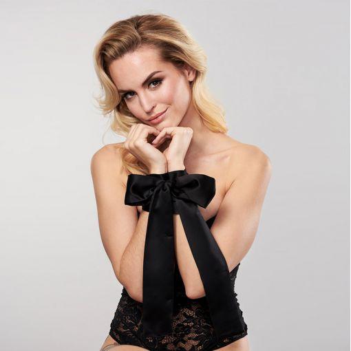 Bijoux Indiscrets Silky Sensual szarfy do krępowania czarne
