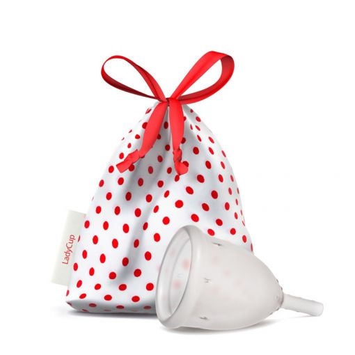 LadyCup kubeczek menstruacyjny transparentny rozmiar S