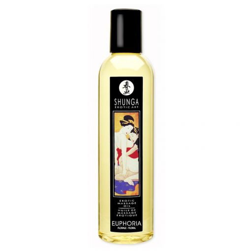 Shunga olejek do masażu Euphoria kwiatowy 250 ml