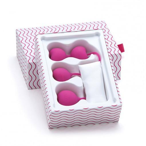 Lovelife Flex zestaw kulek gejszy w kształcie serduszek różowy