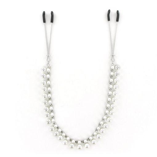 Midnight Pearl zaciski na sutki perłowe