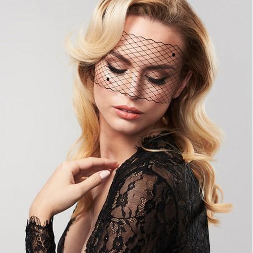 Bijoux Indiscrets ozdobna maska na oczy Louise - czarna