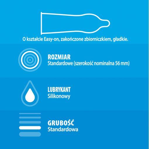 Durex Classic klasyczne nawilżane prezerwatywy 3 szt.