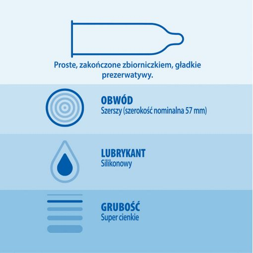 Durex Invisible XL najcieńsze prezerwatywy powiększane 10 szt.