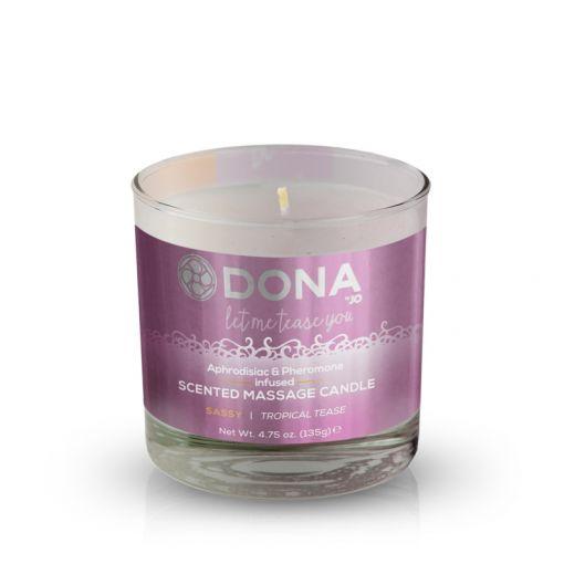 Dona świeca do masażu zapachowa Sassy owoce tropikalne 135 g