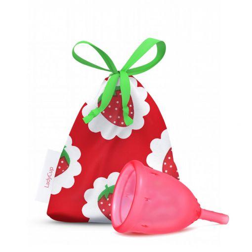 LadyCup kubeczek menstruacyjny truskawkowy rozmiar S