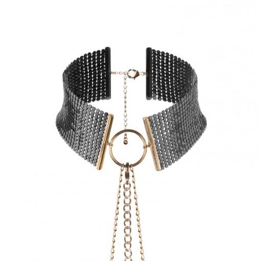 Bijoux Indiscrets Désir Métallique obroża z łańcuszków czarno-złota