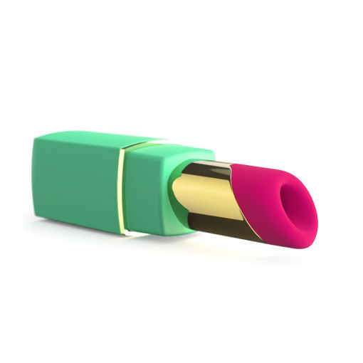 Womanizer W-2GO bezdotykowy masażer w kształcie szminki zielono-różowy