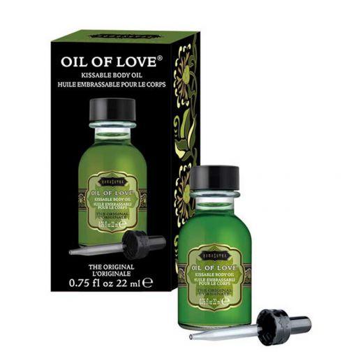 Kama Sutra Oil of Love rozgrzewający olejek do gry wstępnej czekolada, wanilia, cynamon 22 ml